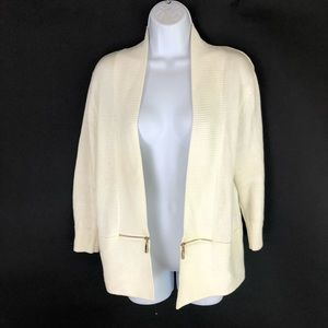 Ivanka Trump White Sweater L